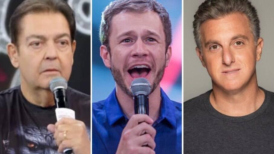 Fausto Silva, Tiago Leifert e Luciano Huck