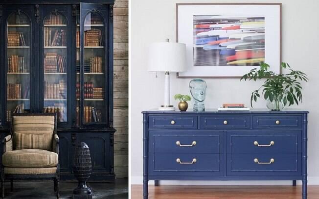 Móveis azuis e com design mais