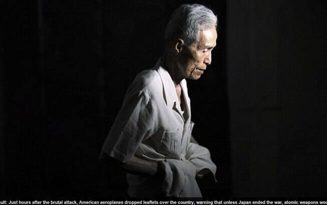 Taniguchi tinha apenas 16 anos quando a bomba foi detonada. Foto: Reprodução/Daily Mail