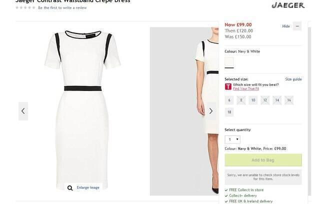 Vestido igual ao usado por Kate Middleton à venda com desconto na loja House of Fraser