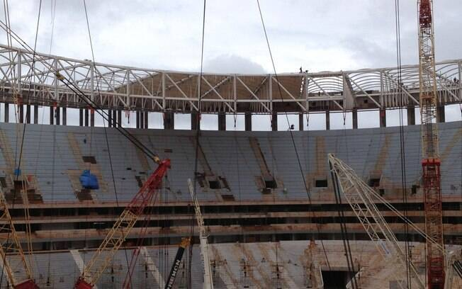 O estádio Mané Garrincha receberá o jogo de  abertura da Copa das Confederações, entre Brasil x  Japão
