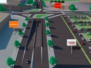 Simulação mostra como deve ficar a praça Itaú, na Cidade Industrial, após a conclusão da obra