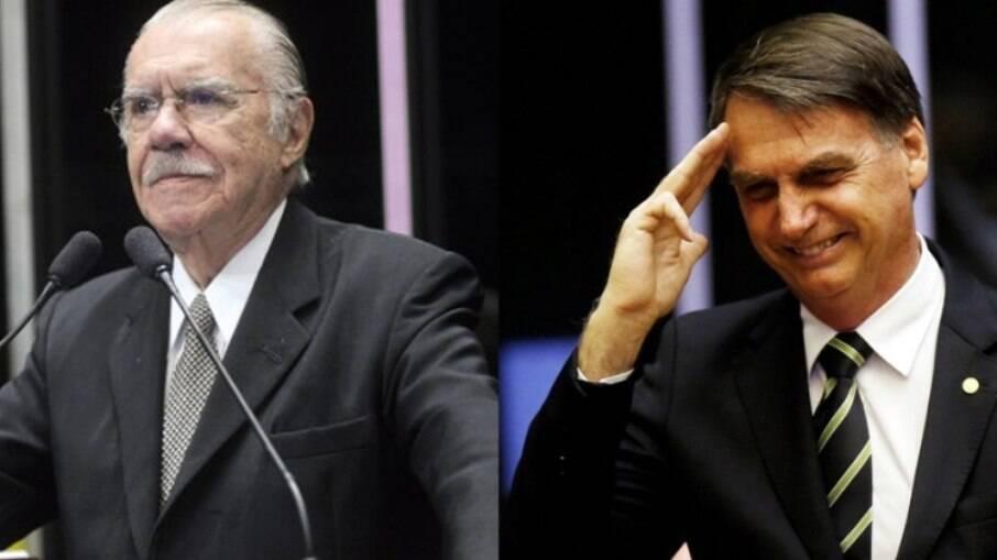Bolsonaro e Sarney se encontraram na última terça-feira (27)