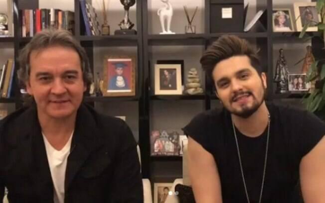 Luan Santana grava vídeo ao lado de seu pai e empresário para falar sobre a Lei Rouanet e sua carreira