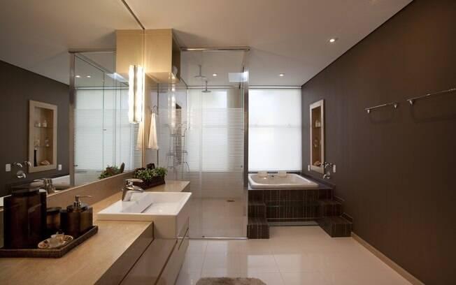 Ideias para renovar o banheiro  Arquitetura  iG -> Banheiro Com Banheira Metragem