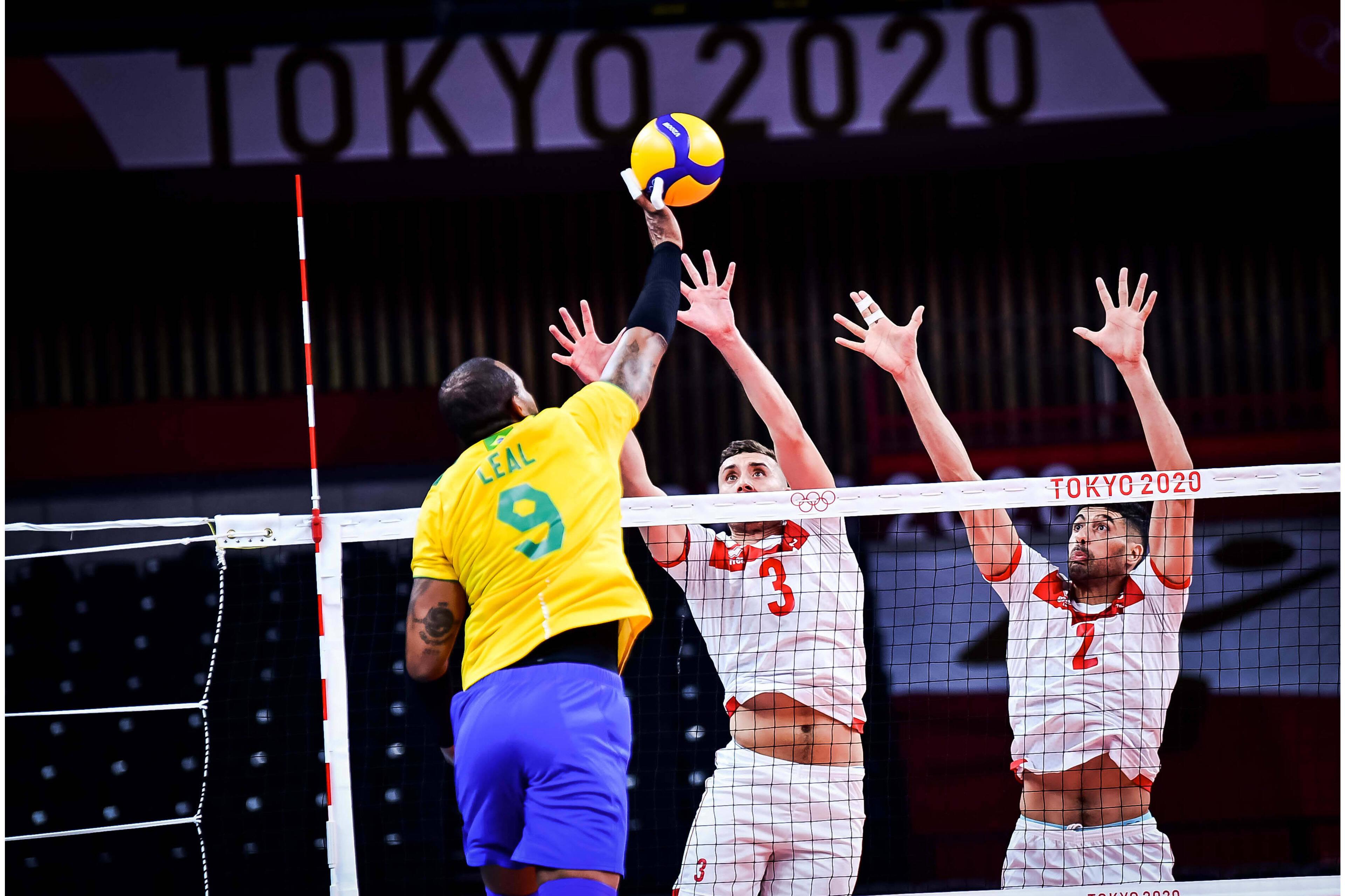 Brasil x Tunísia, estreia do vôlei masculino nos Jogos de Tóquio 2020. Foto: FIVB / DIVULGAÇÃO
