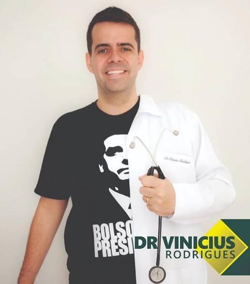 Vinicius Rodrigues na campanha: o médico admirador de Bolsonaro. Foto: Reprodução/Instagram