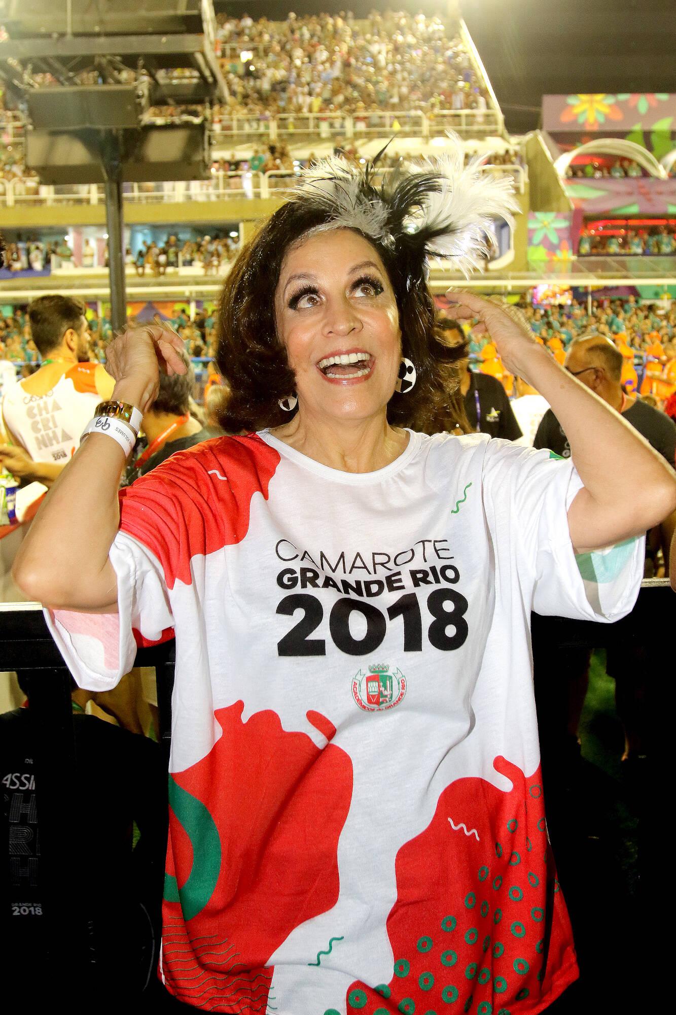 Stella Miranda no Camarote Grande Rio na última segunda-feira (12), no Rio. Foto: eny miranda