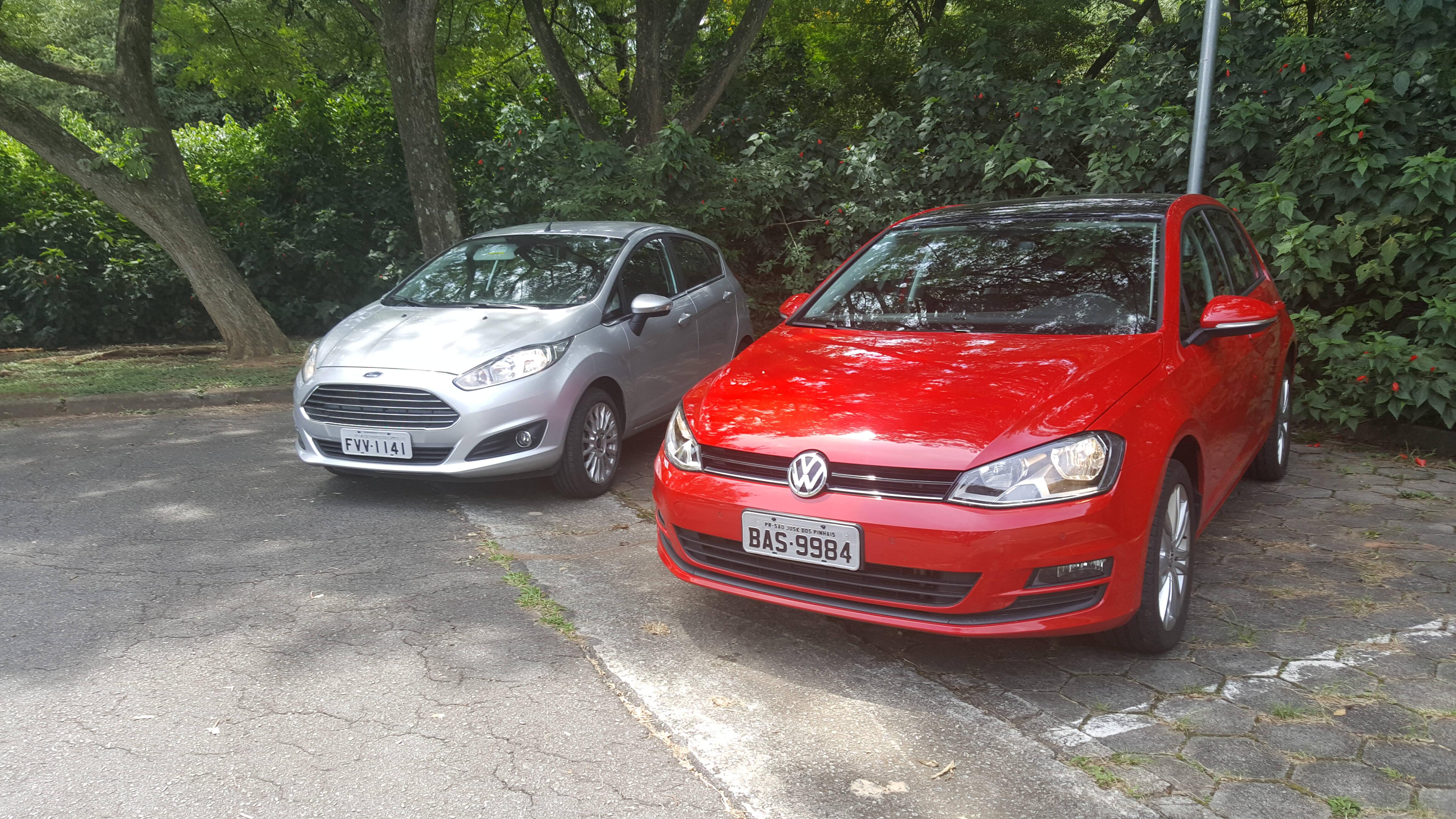 Ford Fiesta EcoBoost encara Volkswagen Golf TSI. Foto: Nicolas Tavares/iG