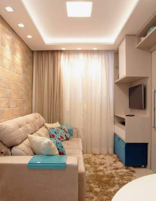 Projeto de decoração de salas pequenas. Foto: Reprodução/ Pinterest/ simplichique