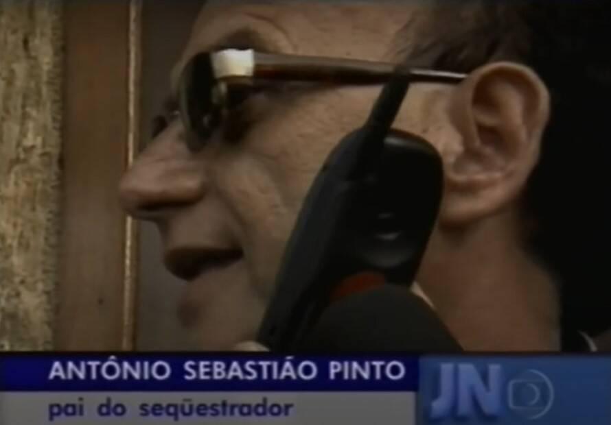 Pai de Fernando Dutra Pinto concede entrevista. Foto: Globo