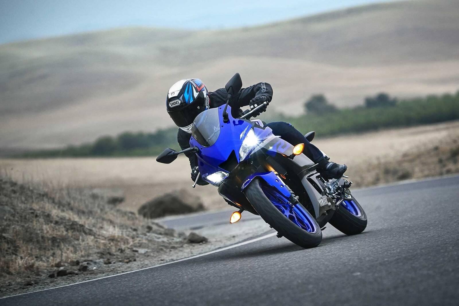 Yamaha R3. Foto: Divulgação