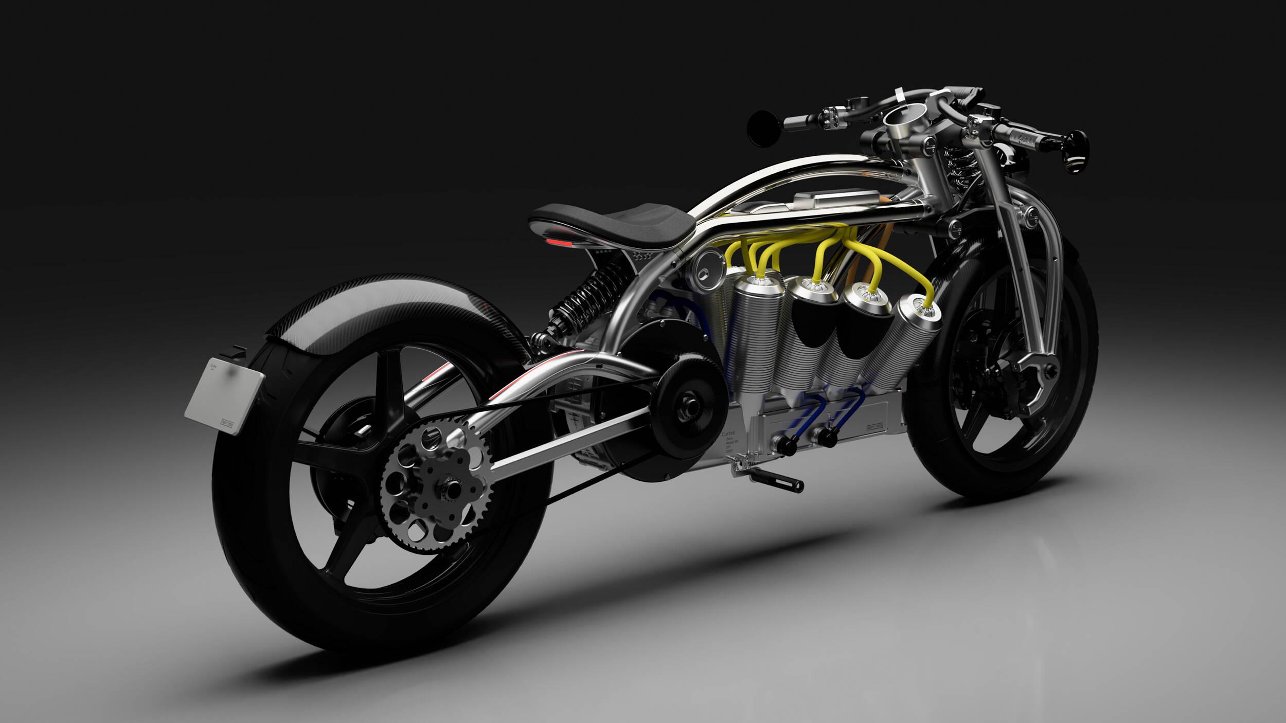 Moto elétrica Curtiss. Foto: Divulgação