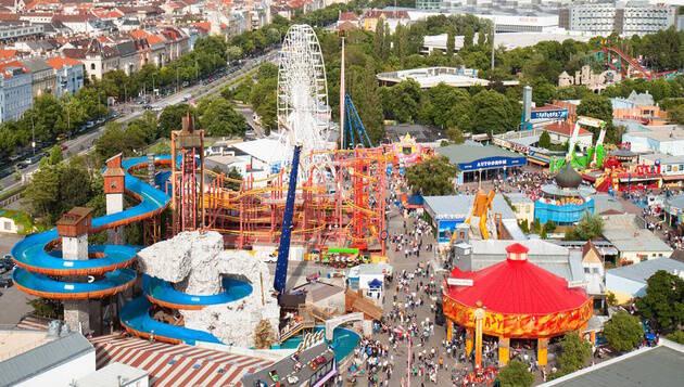 O Parque Prater é um parque de diversões público de Viena. Foto: Reprodução/Dicas da Europa