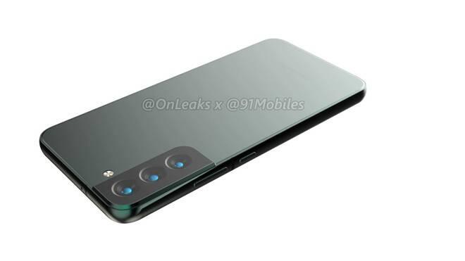 Renderização do Galaxy S22 Plus. Foto: Reprodução/OnLeaks/91Mobiles