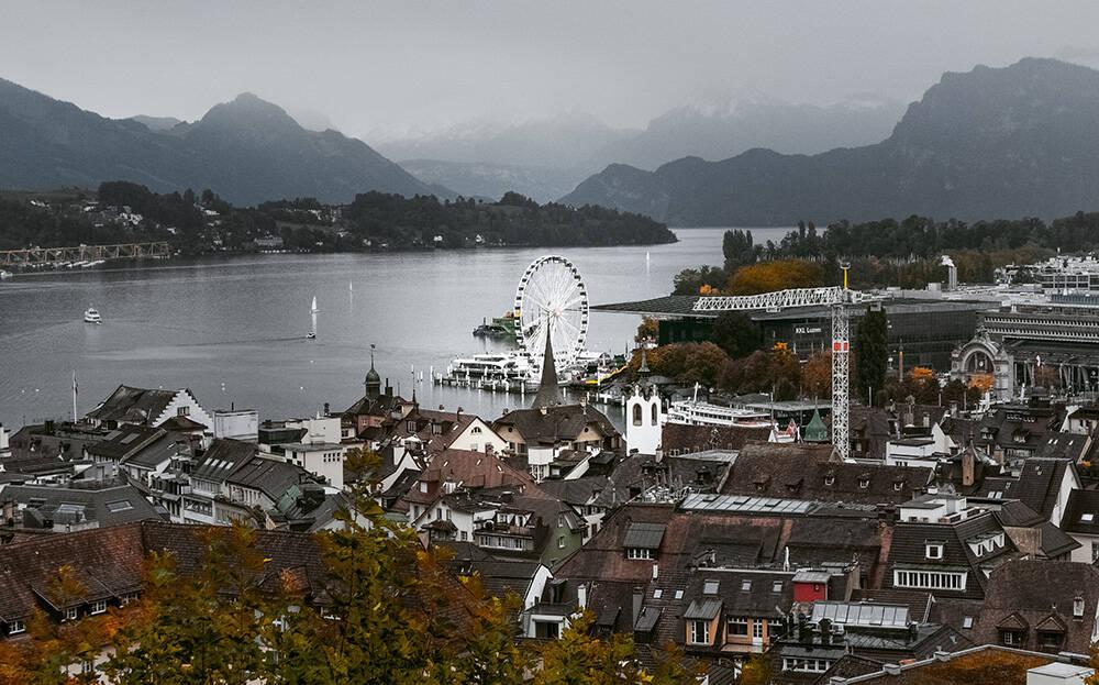 A cidade de Lucerne, na Suíça. Foto: Oleg Magni/Pexels