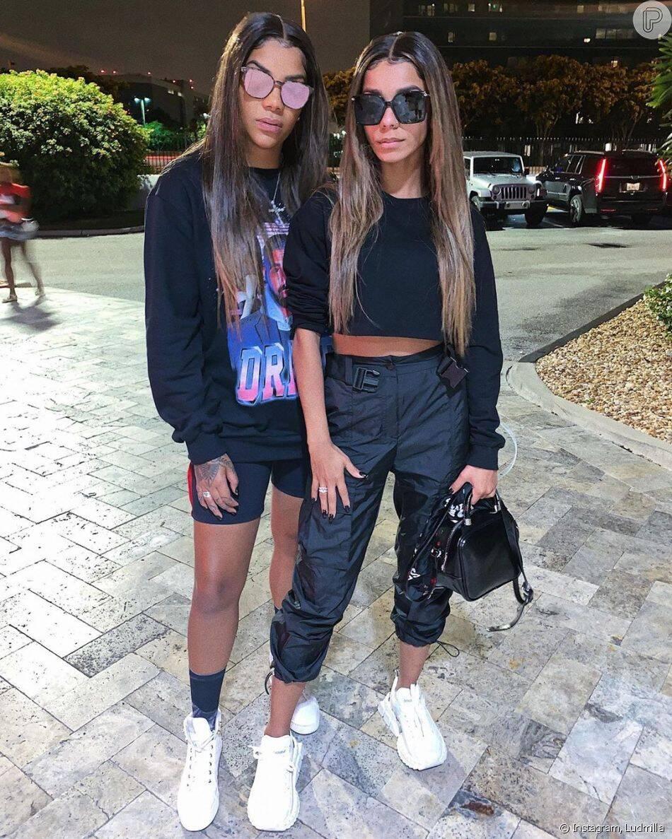 Ludmilla e a namorada Brunna Gonçalves já combinaram tamanho e cor de lace. Foto: Reprodução/Instagram