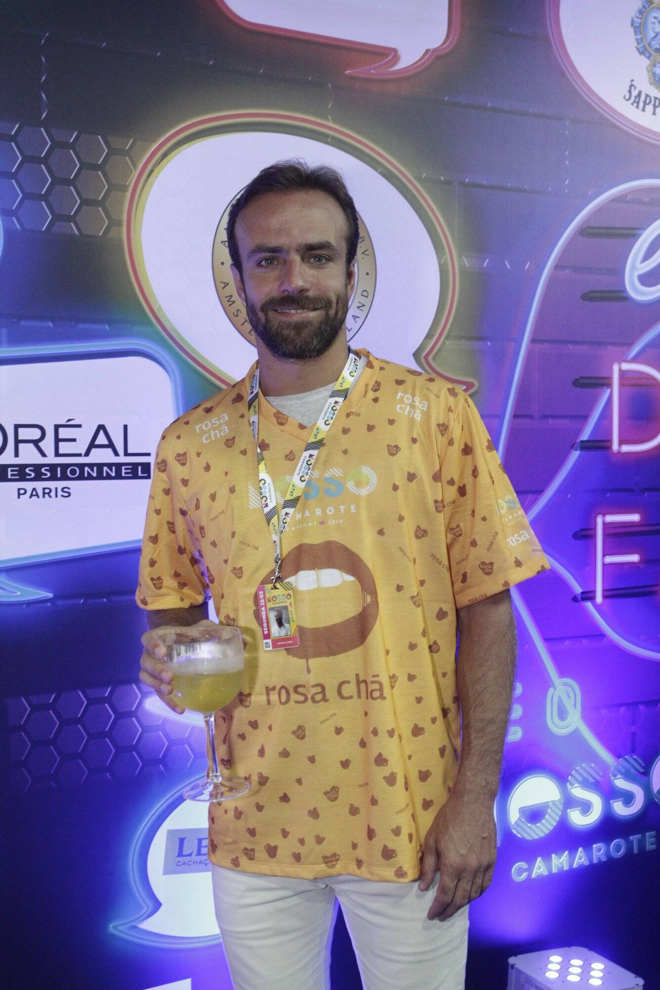 Roger no Camarote N1 na Marquês de Sapucaí na segunda-feira (12. Foto: Brazil News/CS Eventos Divulgacao