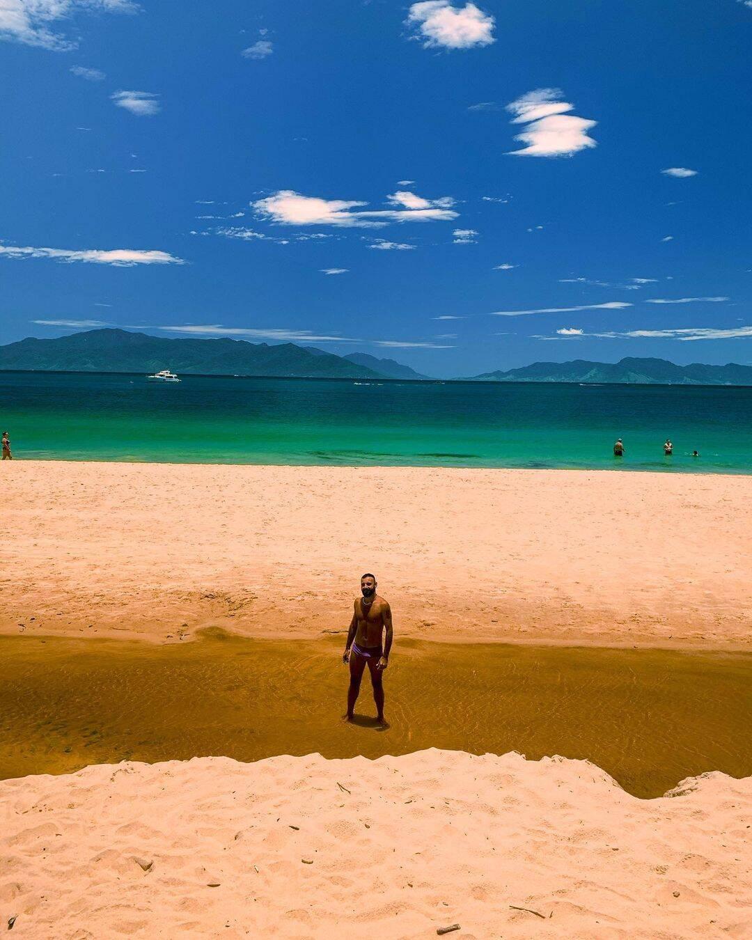 No caminho a Praia Aguda, há um mirante em que é possível ver Ilhabela. Foto: Reprodução/Instagram