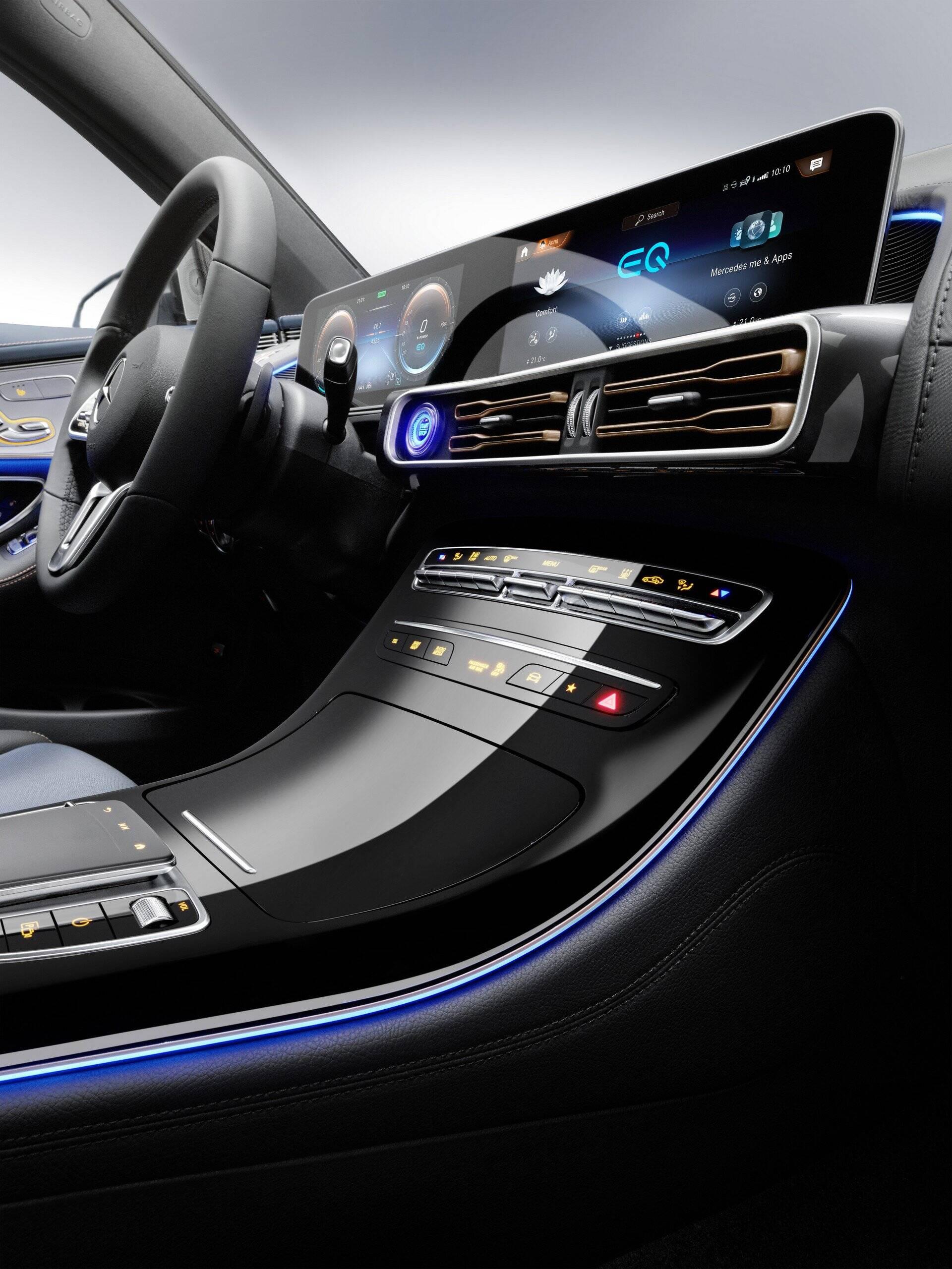 SUV elétrico da Mercedes. Foto: Divulgação