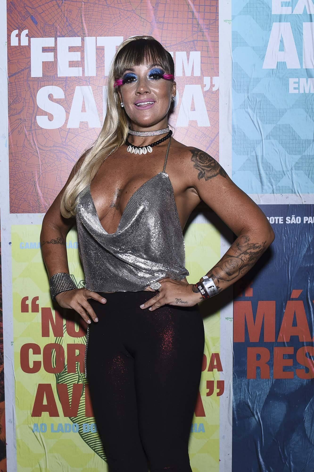 Vivi Fernandez no Camarote São Paulo na última sexta (09). Foto: Lu Prezia