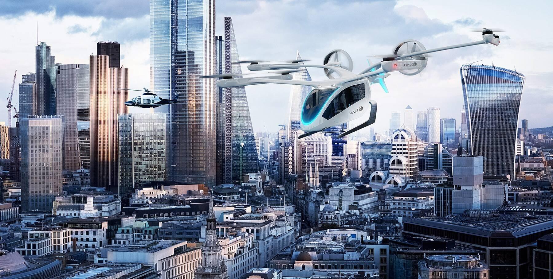Halo e Eve da Embraer firmam parceria para desenvolvimento de 200 unidade de (eVTOLs) para EUA e Reino Unido.. Foto: Divulgação