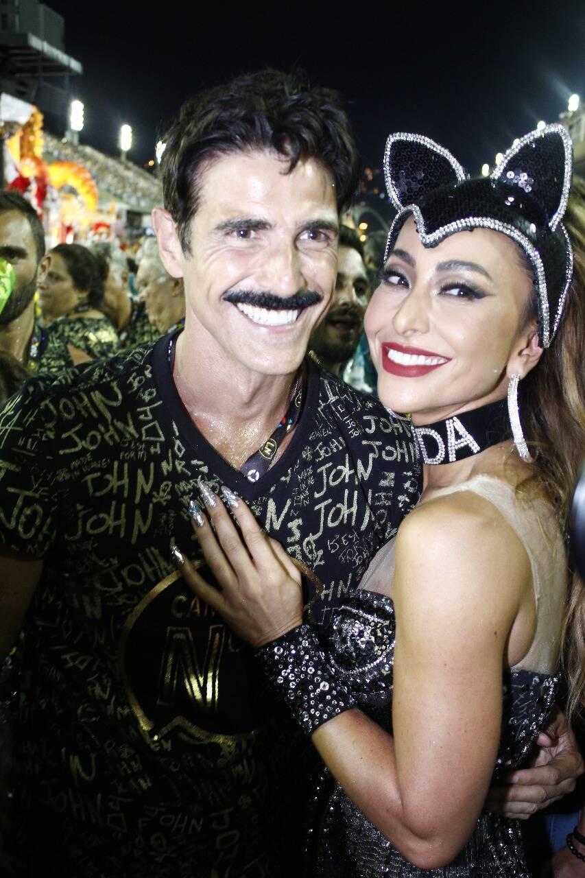 Reynaldo Gianechinni e Sabrina Sato no Camarote N1 na segunda-feira (12) Rio de Janeiro. Foto: Felix Milesi-AgFPontes/Divulgação