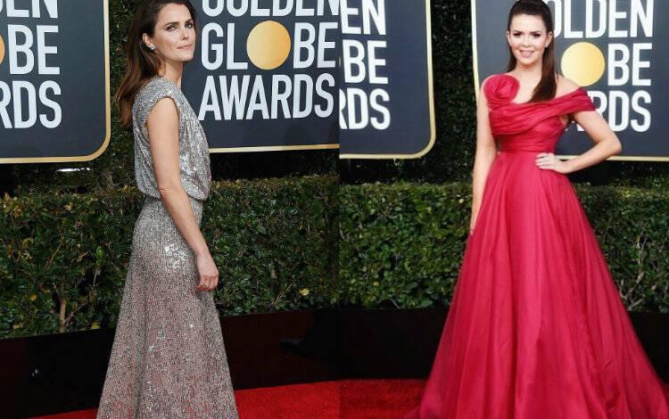 Keri Russell e Carly Steel no Globo de Ouro. Foto: Reprodução/Instagram