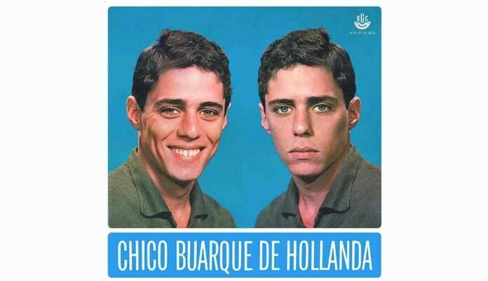 """Capa de """"Chico Buarque de Hollanda"""", gravado em 1966, é o primeiro álbum da carreira do artista. O disco ganhou outros volumes nos anos seguintes.. Foto: Reprodução/ Divulgação"""