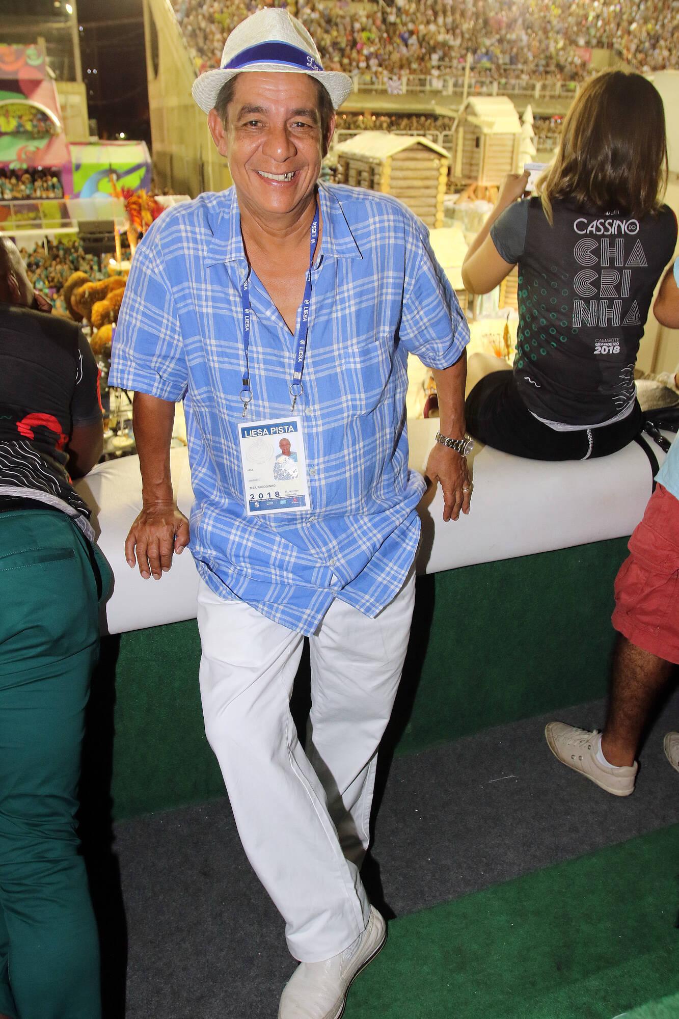 Zeca Pagodinho no Camarote Grande Rio na última segunda-feira (12), no Rio. Foto: eny miranda