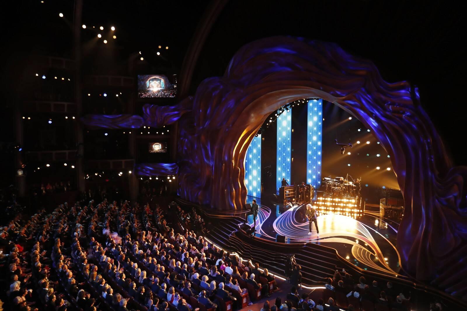 Queen abriu o Oscar 2019 com uma apresentação musical. Foto: Reprodução/Twitter