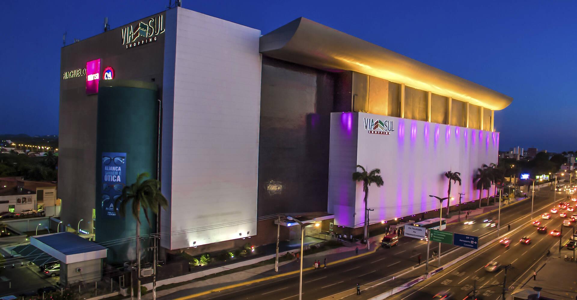 Via Sul Shopping Fortaleza, localizado na Avenida Washington Soares. Foto: Reprodução
