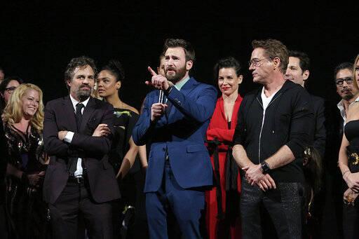 Na segunda-feira (22), aconteceu em Los Angeles a Première de Vingadores com a presença de grande parte do elenco, entre eles, Brie Larson e Scarlett Johansson. Foto: Disney/Image.net