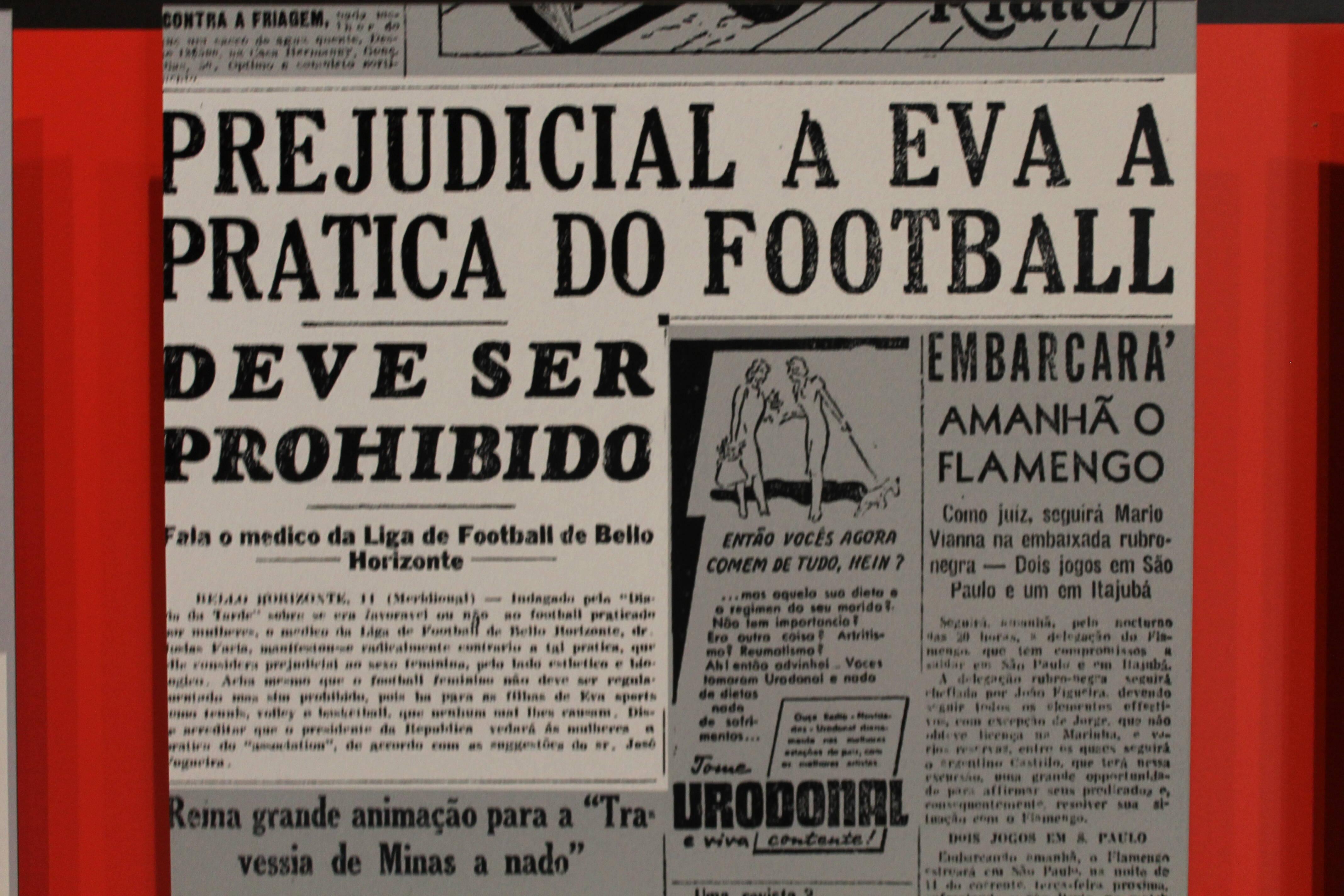 Opinião médica contra as mulheres praticarem o futebol. Foto: Flavia Matos/ IG