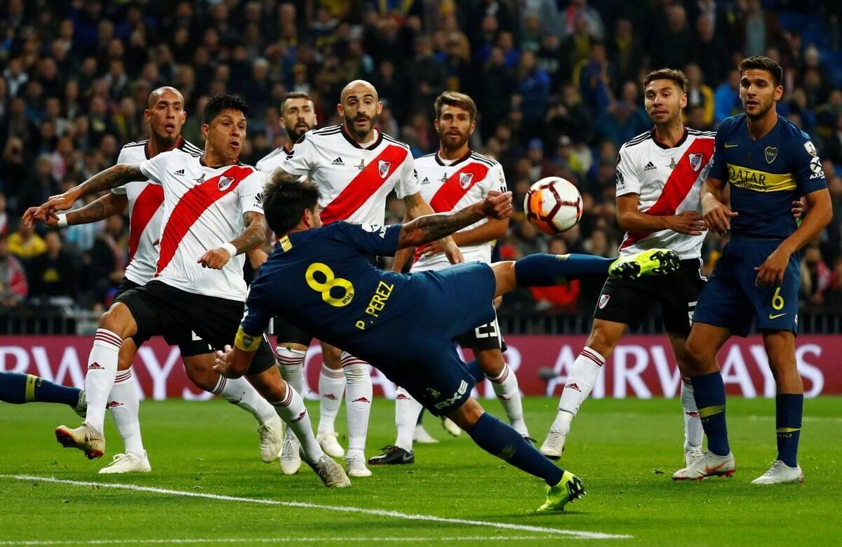 Final da Libertadores entre River Plate e Boca Juniors, em Madri, na Espanha. Foto: AS.com / Reprodução