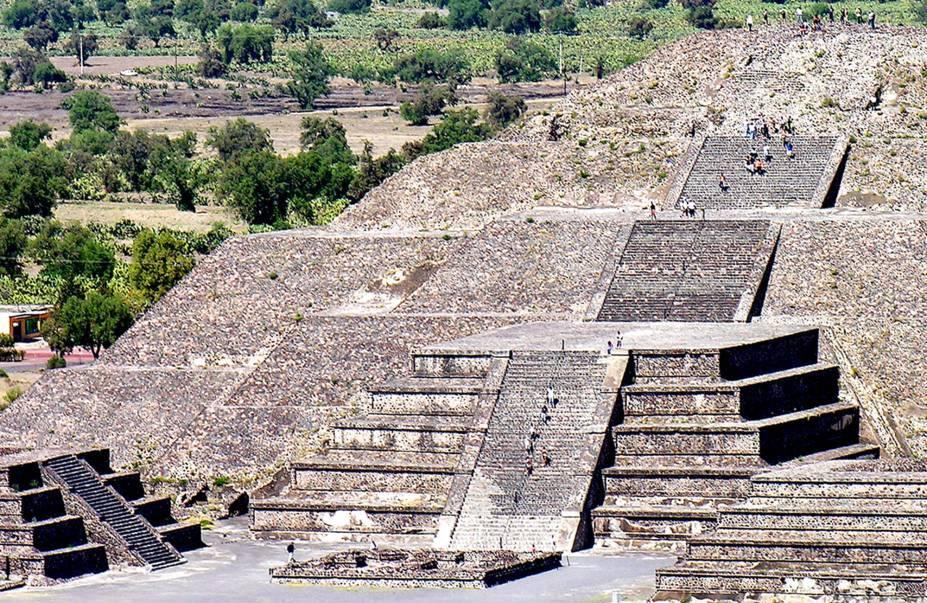 Ruínas Teotihuacan, no México. Foto: Reprodução