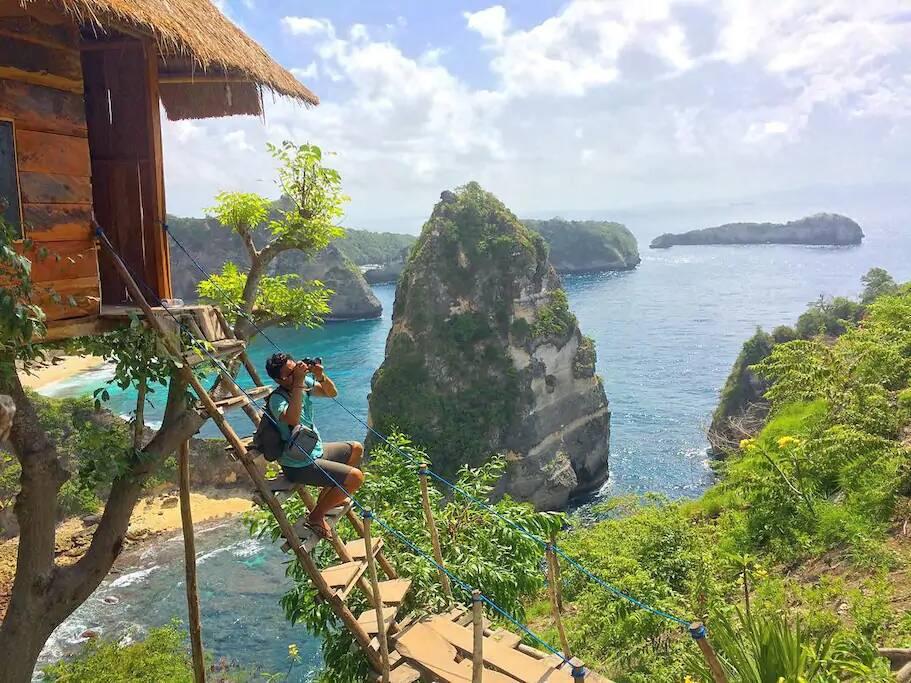 Casa na árvore em Bali. Foto: Reprodução/Airbnb