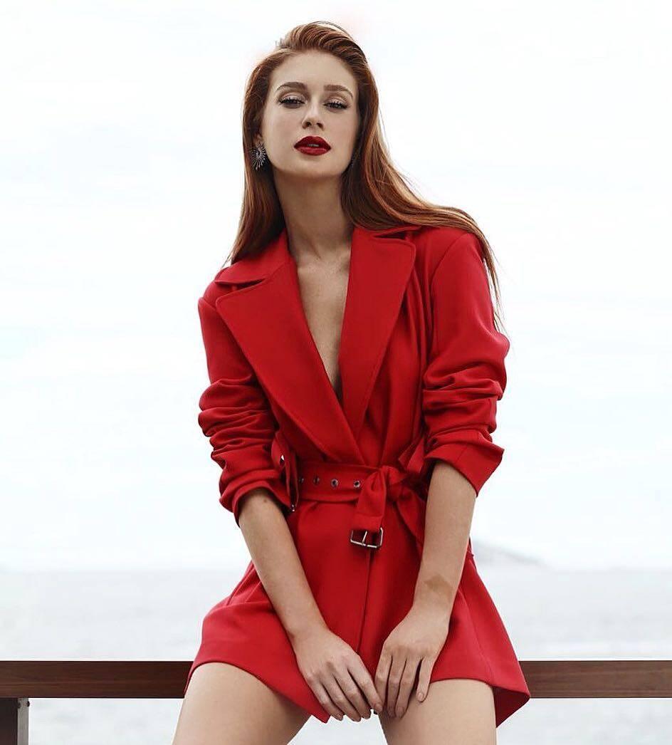 Marina Ruy Barbosa usando um look vermelho poderoso. Foto: Reprodução/Instagram