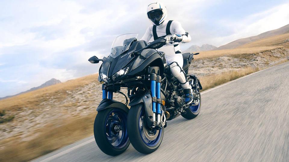Yamaha Niken Concept: revolução que faz esta três rodas futurista se destacar como motocicleta. Foto: Divulgação