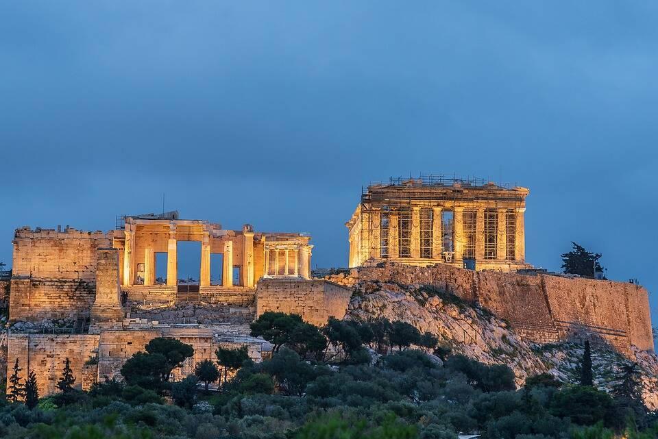 O Partenon ao final da tarde. Foto: Pixabay