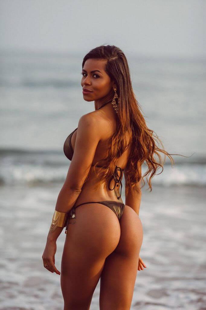 Bruna Valentim representa os EUA na competição. Ela já foi capa da Playboy Portugal e atualmente vive em Miami.. Foto: Divulgação