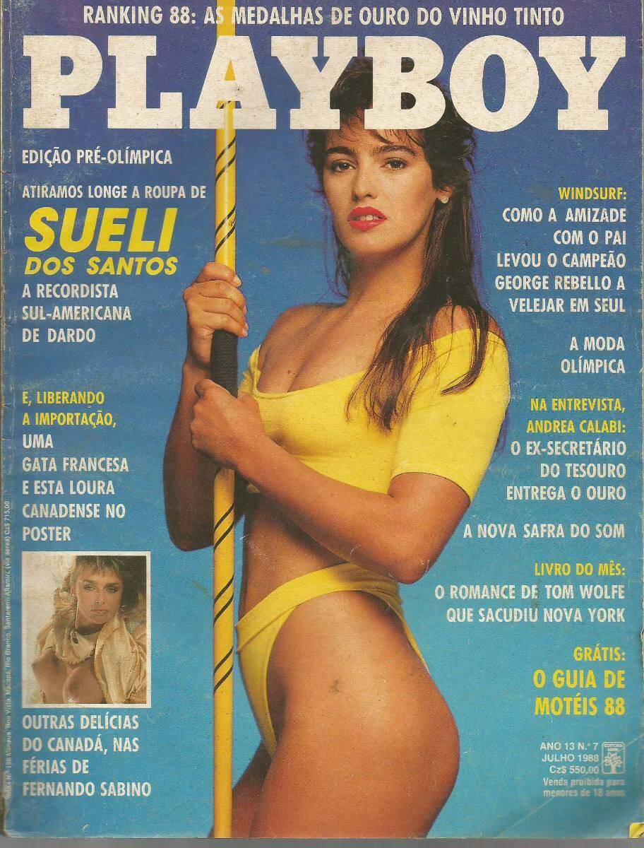 Capa da Playboy - Sueli dos Santos, brasileira do atletismo. Foto: Divulgação / Revista Playboy