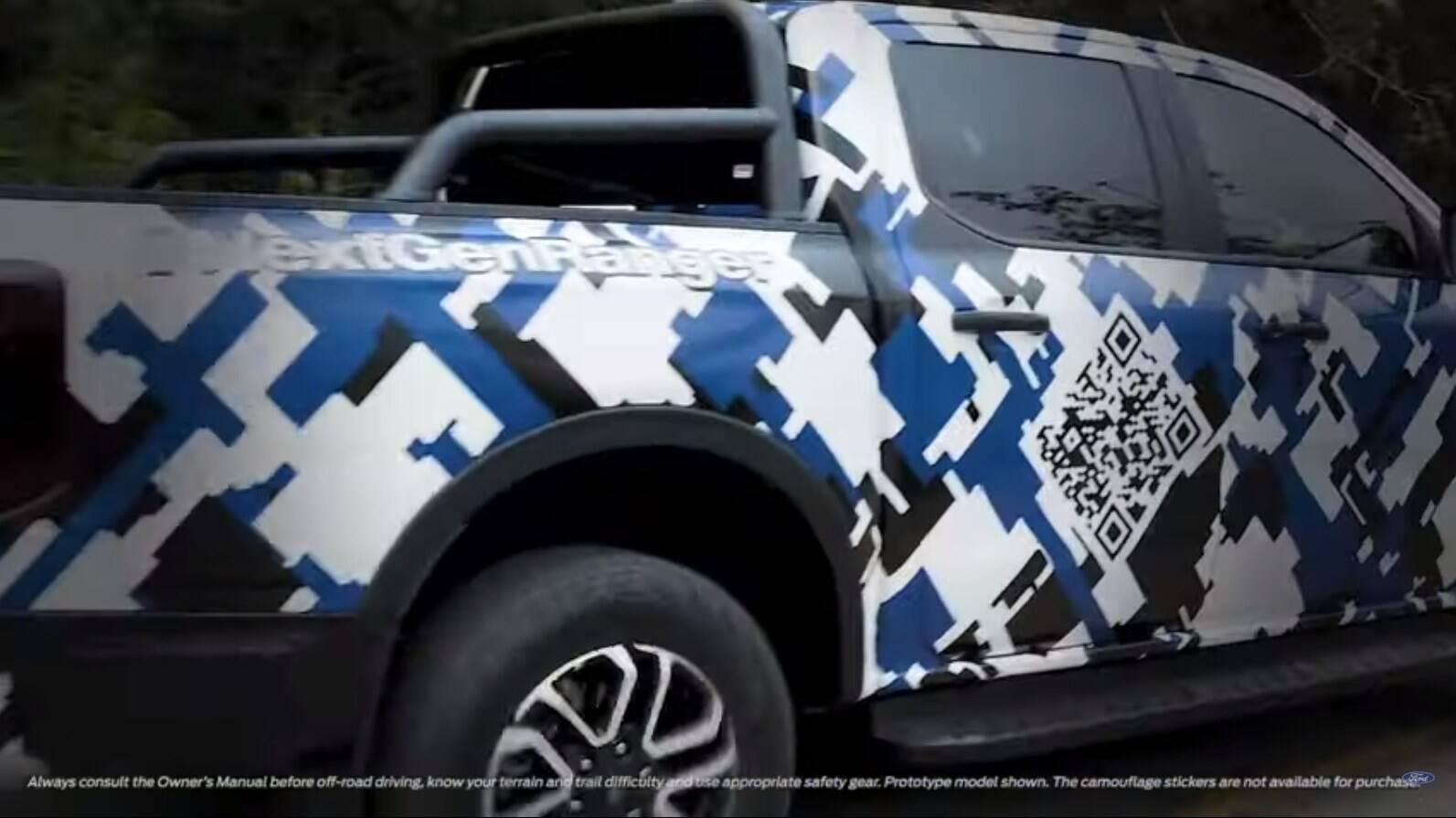 Ford Ranger - Teaser. Foto: Divulgação