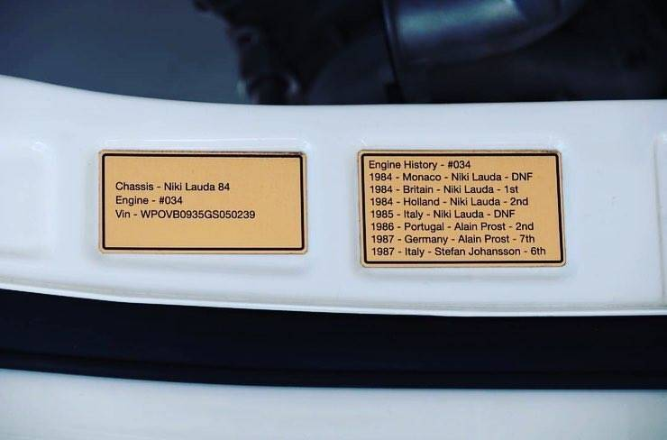 Porsche 930 TAG F1. Foto: Divulgação