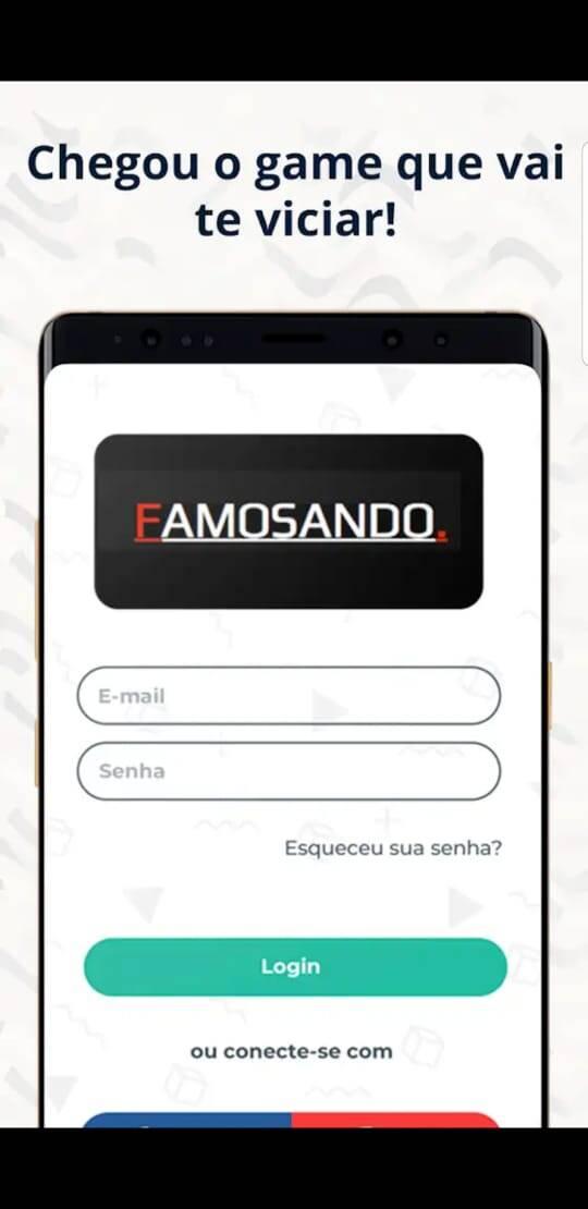 Prints da jogo Famosando. Foto: Divulgação