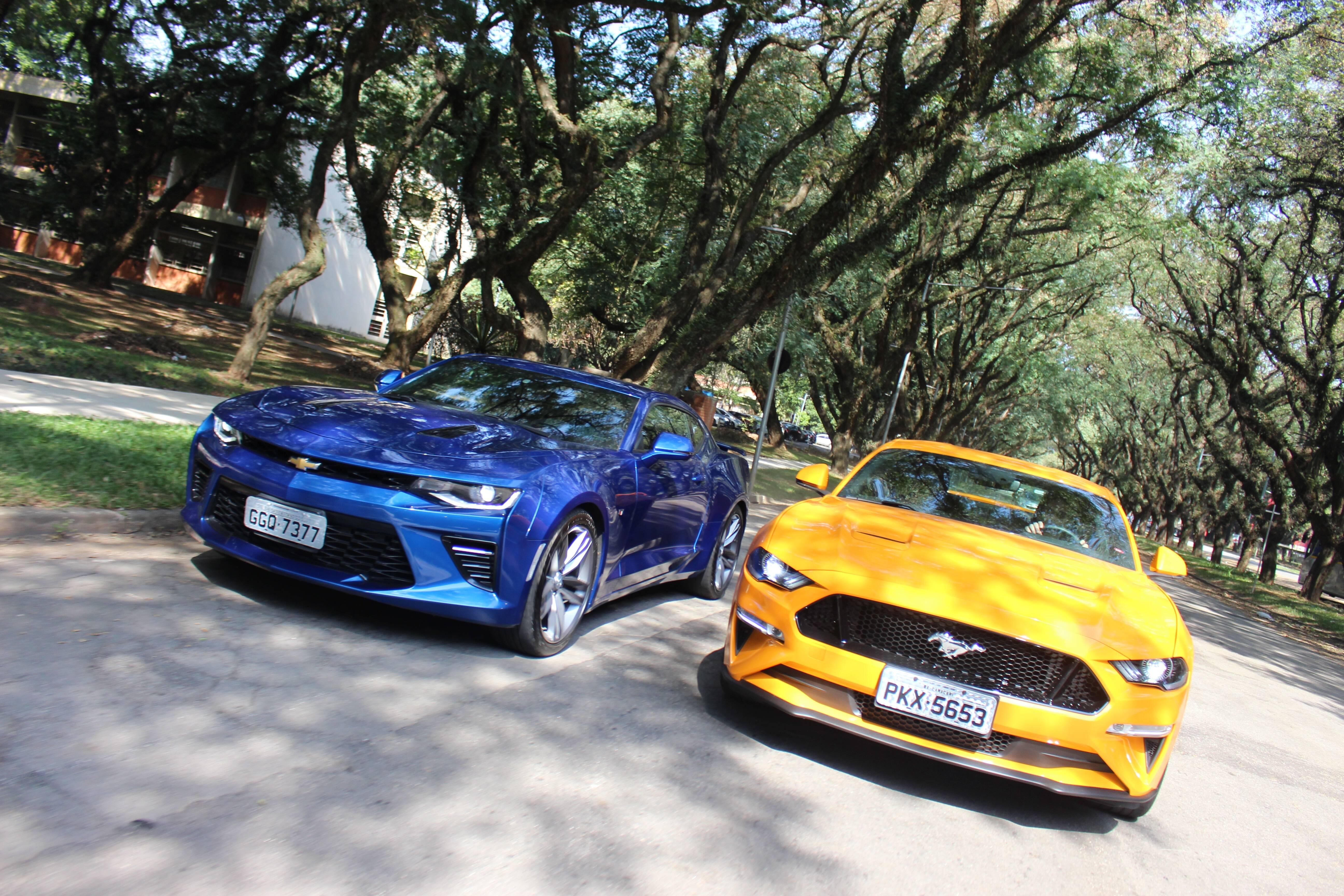 Chevrolet Camaro e Ford Mustang. Foto: Caue Lira/iG