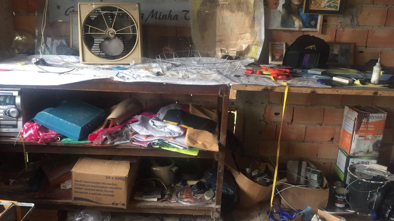 Polícia Militar Ambiental fechou mais duas fábricas de balões: uma na zona leste e outra em Santo André (ABC). Foto: Divulgação/Polícia Militar Ambiental