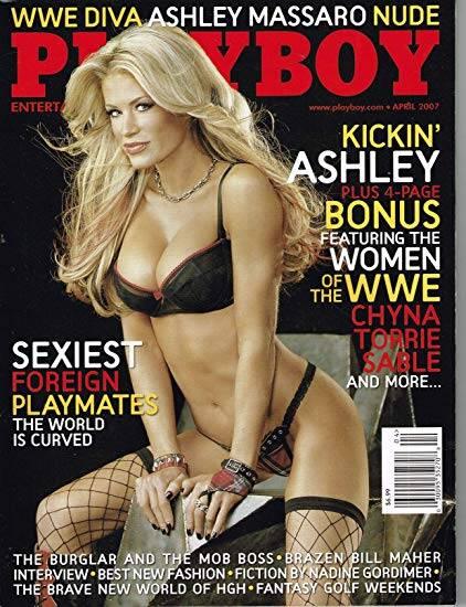 Capa da Playboy - Ashley Massaro, lutadora do WWE. Foto: Playboy/Divulgação