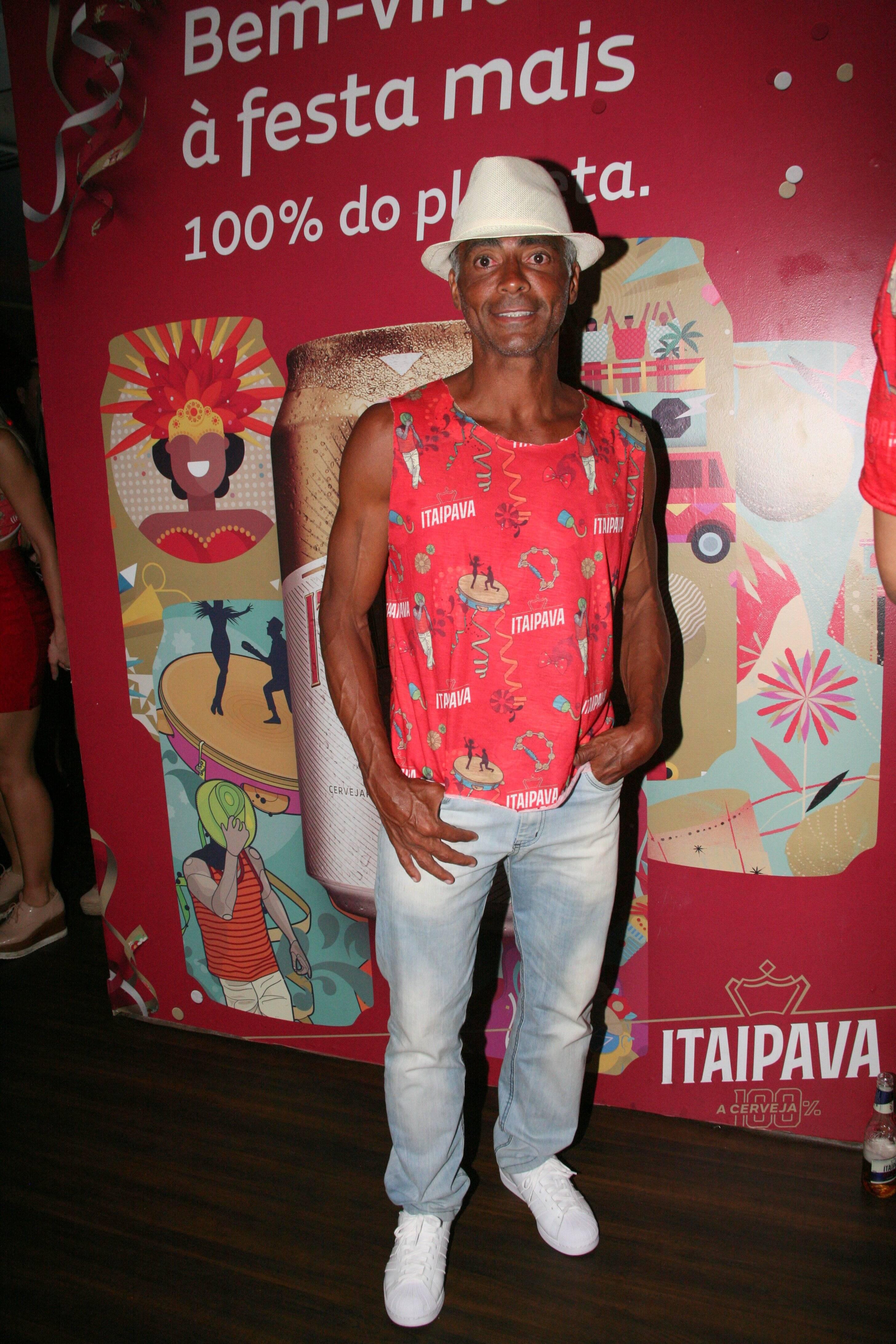 Romário no Camarote Itaipava na última segunda-feira (12). Foto: Cleomir Tavares