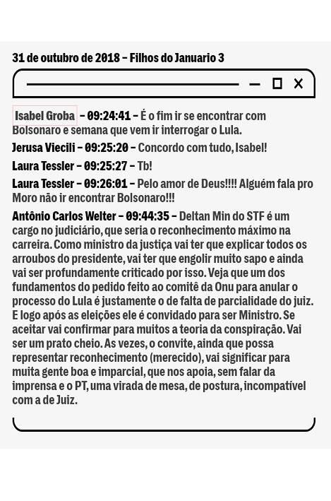 Procuradores criticam Moro em conversas vazadas na web. Foto: Divulgação/The Intercept